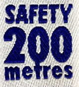 200m Safety Badge