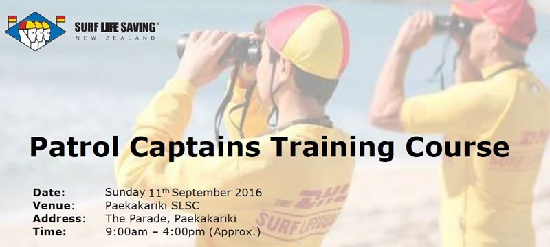 Paek Patrol Cap Course Sept 11 16